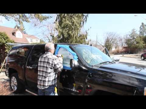 scratched glass repair by Skywave, 2012 Chevy Crew Cab