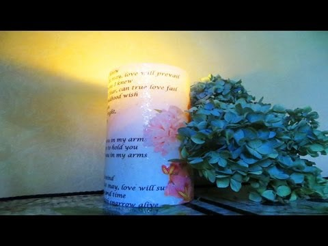 Personalised Candles Decoupage your candles! Personalized Candles how to