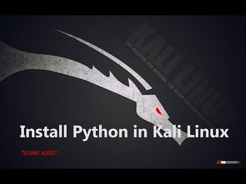 Install Python in Kali Linux! Easy method , 2015