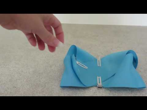 Make a boutique bow with 3 inch grosgrain ribbon