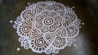 Middle Alpana Floor Bengali Alpana Design Hand Art