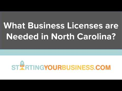 What Business Licenses are Needed in North Carolina - Starting a Business in North Carolina