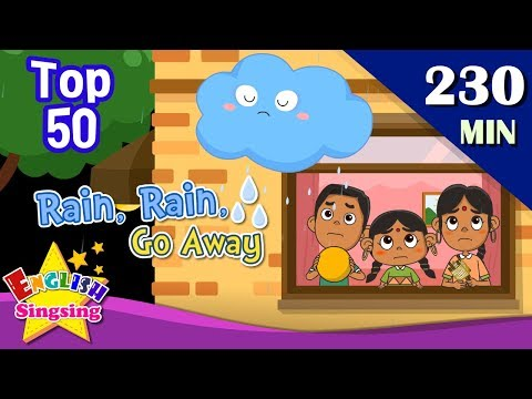 Rain, Rain, Go Away + More Weather Songs | Top 50 Nursery Rhymes with lyrics | English kids video