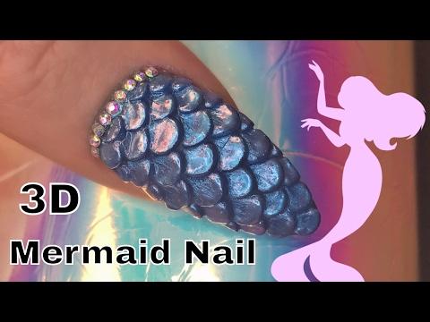3D Acrylic Mermaid Scale Nail