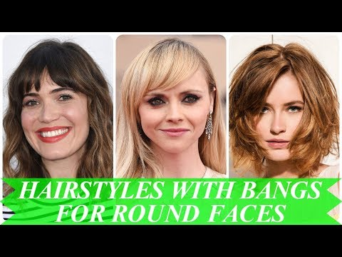 20 Hottest ideas for hairstyles with bangs for round faces 2018