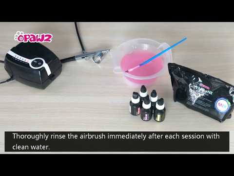 How to clean OPAWZ airbrush