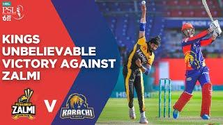 PSL 2021 | Karachi Kings Unbelievable Victory Against Peshawar Zalmi | Match 14 | MG2E