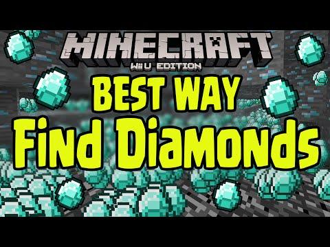 Minecraft Wii U - BEST WAY TO FIND DIAMONDS (GAMEPLAY TUTORIAL)