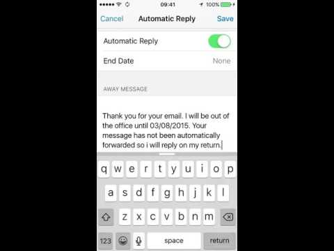 How to turn on automatic email replies (out of office) on your iPhone 5C
