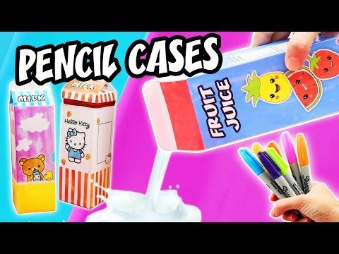 3 DIY MILK BOXES PENCIL CASES   aPasos Crafts DIY