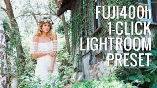 1 Click Fuji400h in Lightroom | Lightroom Preset System