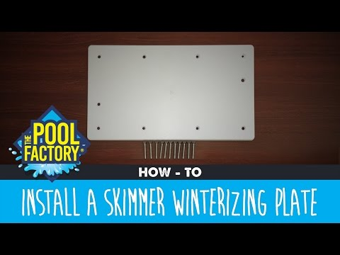 How to install a Skimmer Winterizing Plate