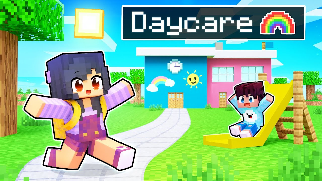 Opening Our New DAYCARE In Minecraft!