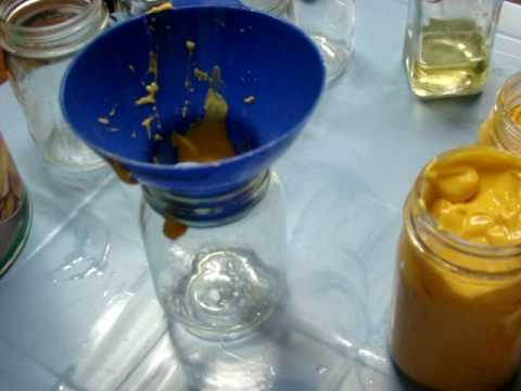 96 Separating 5 pounds of nacho cheese into pint mason jars for quick use bulk buying refrigerate
