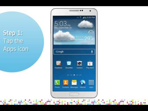 Samsung Galaxy Note 3: Turn off/on data roaming services