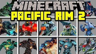 Minecraft PACIFIC RIM 2 MOD! | BUILD GIANT ROBOTS TO FIGHT KAIJU ARMY! | Modded Mini-Game