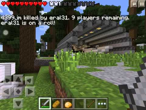 Mcpe hunger game 3 flint and steel and iron armour (not me)