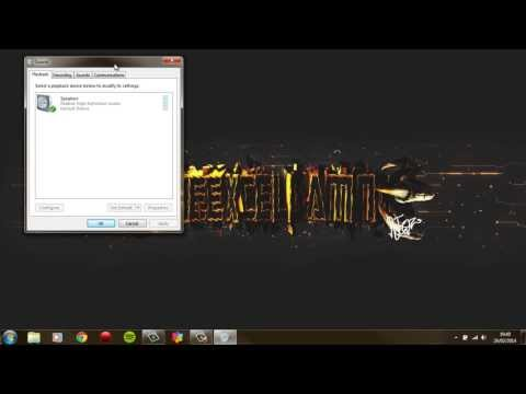How to Switch Audio Output from Speakers to USB Headset (WIN7) 2014