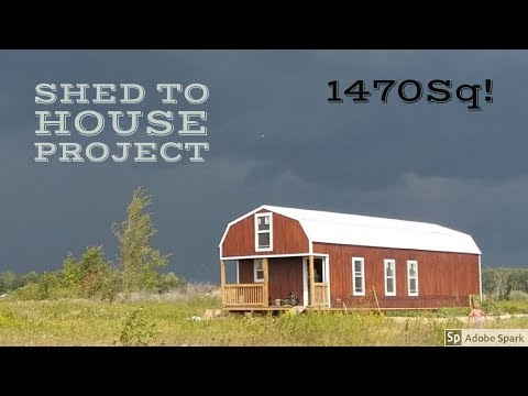 16x52 Lofted Barn Shed Cabin Tour