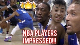 Julian Newman PROVES HE'S NBA READY! 16 POINTS IN QUARTER VS PROS In MIAMI!