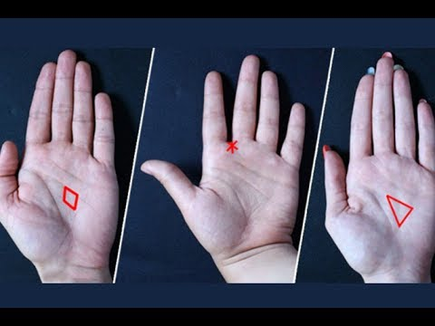 Look Your Hand, A Triangle, Star Or Diamond Will Tell You Much About Your Fate!