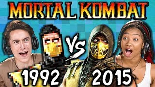 Download MORTAL KOMBAT Old vs New (1992 vs 2015) (React: Gaming) Video