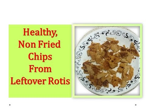 how to use leftover chapati ? - Make Healthy, less oily Chips in Microwave ( Leftover roti snack)