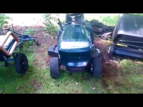 How to start mower engine with dead battery/starter/solenoid (check description to put belt back on)