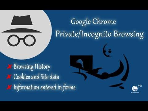 Private/Incognito Browsing in Google Chrome