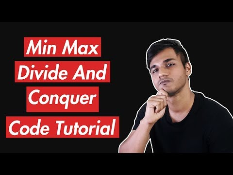 Max And Min Using Divide And Conquer   Code Tutorial