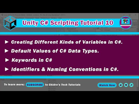 C# Unity 10 - Default Values, Keywords, Identifiers