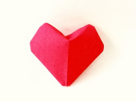 Origami-Puffy Heart Instructions ||3D Paper Heart-DIY-Valentine's Day ideas