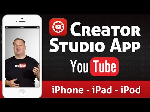 YouTube Creator Studio App for iOS - iPod iPad iPhone