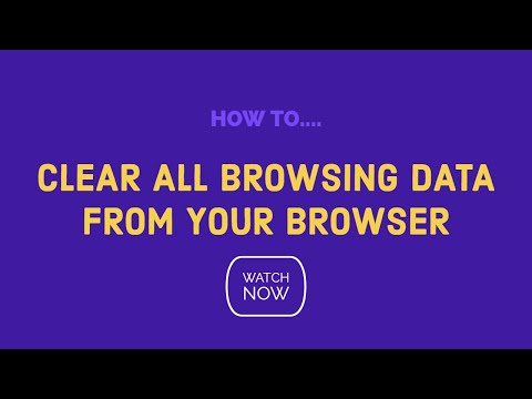 How do you clear the cache, cookies, history all browsing data from your chrome browser.