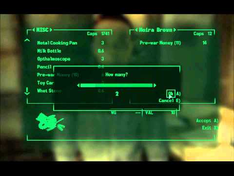 Fallout 3: Infinite caps cheat