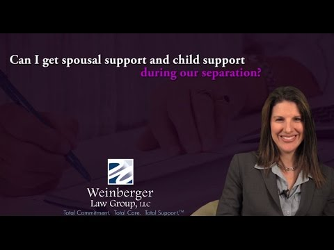 FAQ: Can I get spousal support and child support during our separation?