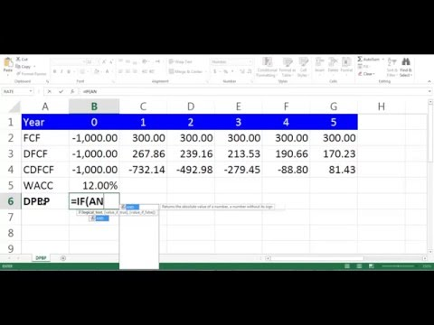 DPBP Calculation using Excel