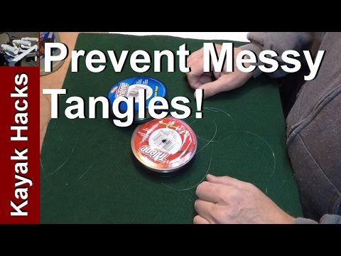 Trick to keep fishing line or tippet organized on spools