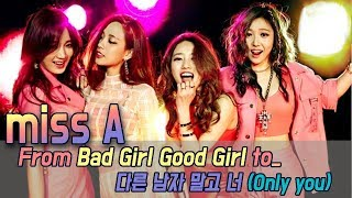 [60FPS] History of miss A, From Debut to the