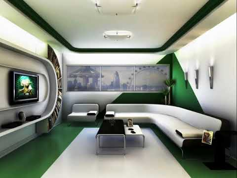 Green Futuristic Bedroom ideas