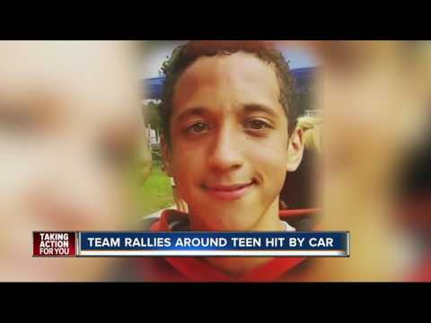 Teen's 'football family' praying for recovery after coma-inducing crash
