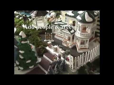 Sandi's How to Make a Christmas Village Display