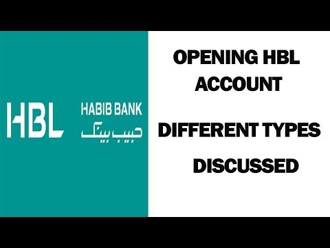 HOW TO OPEN HBL ACCOUNT || DIFFERENT TYPES DISCUSSED
