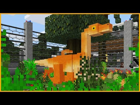 Minecraft PE - JURASSIC PARK WITH REAL DINOSAURS - Best MCPE 1.4 / 1.2 Maps & Addons
