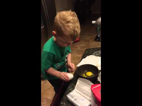 Toddler Chef -Cracking Eggs