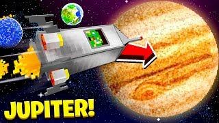 I tried SURVIVING on JUPITER in Minecraft!