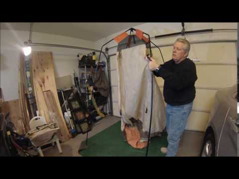How to set up a shower potty tent