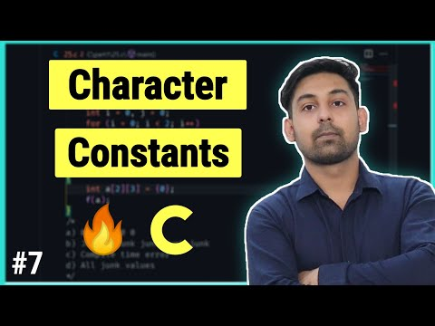 #5.3 Character Constants In C ( Hindi ) By Nirbhay Kaushik