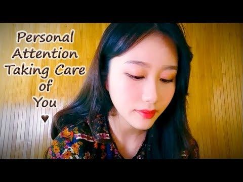 *ASMR* Personal Attention RP - Taking care of a sick friend (BINAURAL TRIGGERS)
