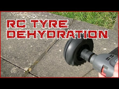How to get water out of your RC tyres